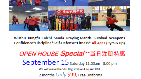 Open House Special !!!